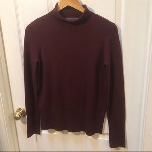 French Connection burgundy cowl Neck Sweater